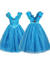 Kids Princess Dress Up Cosplay Costume For Girls (Belle/Rapunzel/Cinderella)