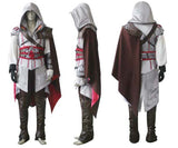 Assassin's Creed 2 Costume Ezio Auditore Cosplay Outfit Female/Men/Kids/Adult