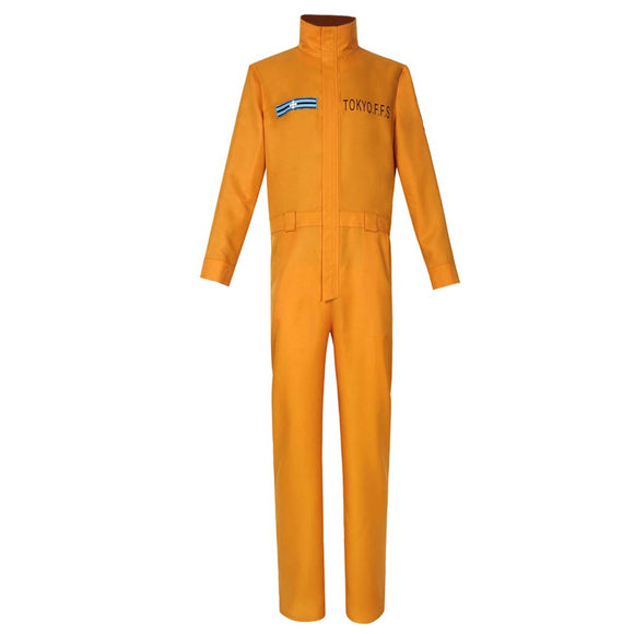 Shinra Kusakabe Cosplay Costume Fire Force Enen no Shouboutai Yellow Jumpsuit Uniform