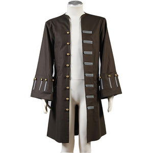 Pirates Of The Caribbean Jack Sparrow Jacket Cosplay Costume Custom Made