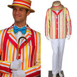 Mary Poppins Bert Costume Movie Mary Poppins Cosplay Men Halloween Outfit