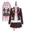 Danganronpa Kotoko Utsugi Cosplay Costume Brown Uniform