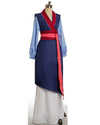 Princess Fa Mulan Costume Blue Cosplay Women Outfit Dress