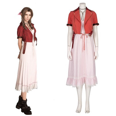 Aerith Gainsborough Costume Aeris Cosplay Outfit Final Fantasy VII Alice Dress