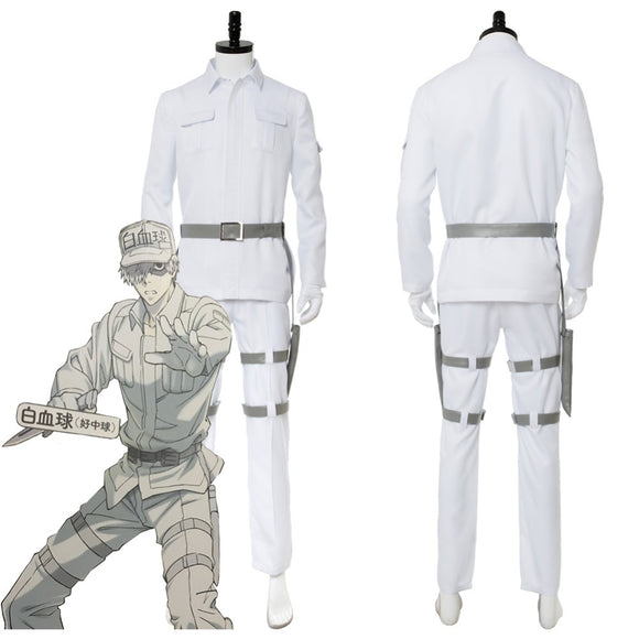 Cells at Work! White blood cell Neutrophil Cosplay Costume Custom Made
