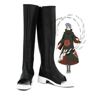 Anime NARUTO Konan Cosplay Shoes Boots Custom Made