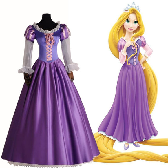 Rapunzel Princess Costumes Adult Fancy Dress Halloween Carnival Outfit