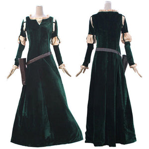 Brave Merida Cosplay Costume Princess Merida cosplay Dress For Adults