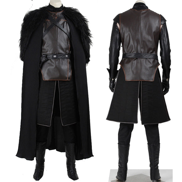 Game of Thrones Jon Snow Cosplay Costume Outfit Full Set Custom made