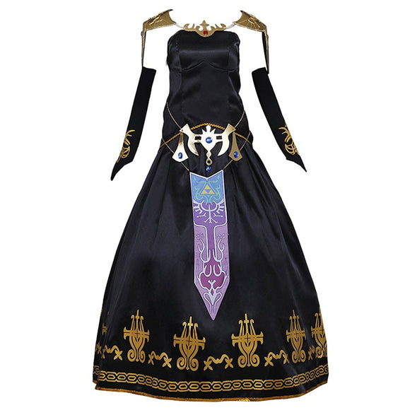 Legend of Zelda Twilight Princess Zelda Dress Cosplay Costume Custom Made