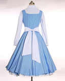 Beauty and the Beast Belle Cosplay Costume Maid Dress Custom Made
