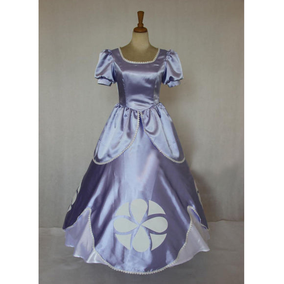 Princess Sofia the First Costume Sofia Cosplay Dress For Adult