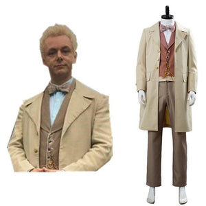 Good Omens Angel Aziraphale Cospaly Costume Men Halloween Outfit