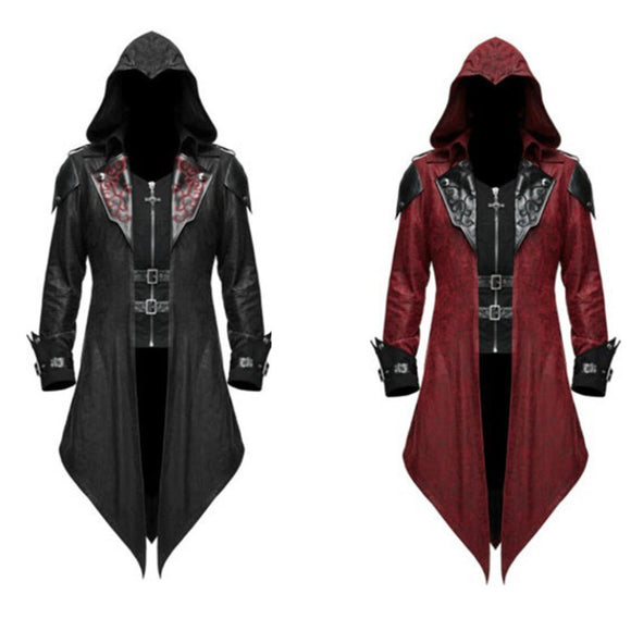 Assassin's Creed Costume Adult Men Woman Jackets Hooded Coat