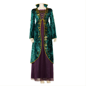 Hocus Pocus Winifred Sanderson Cosplay Costume Outfit Dress