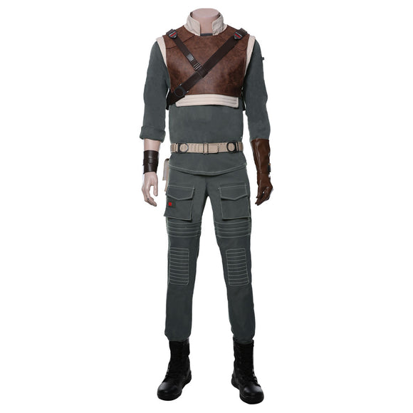 Jedi Fallen Order Cal Kestis Cosplay Costume Uniform Suit