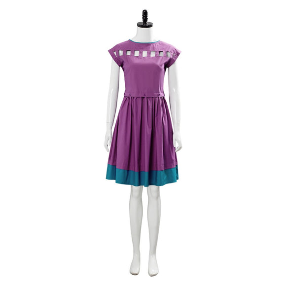 Stranger Things Season 3 Nancy Wheeler Cosplay Costume Purple Dress