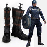 Captain America Cosplay Shoes Boots Custom Made