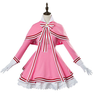 Girls Card Captor Sakura CLEAR CARD KINOMOTO SAKURA Cosplay Costume Anime Women Dress