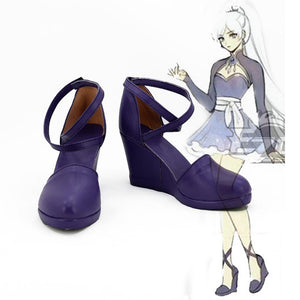RWBY Weiss Schnee Cosplay Boots Anime Shoes For Women Girls