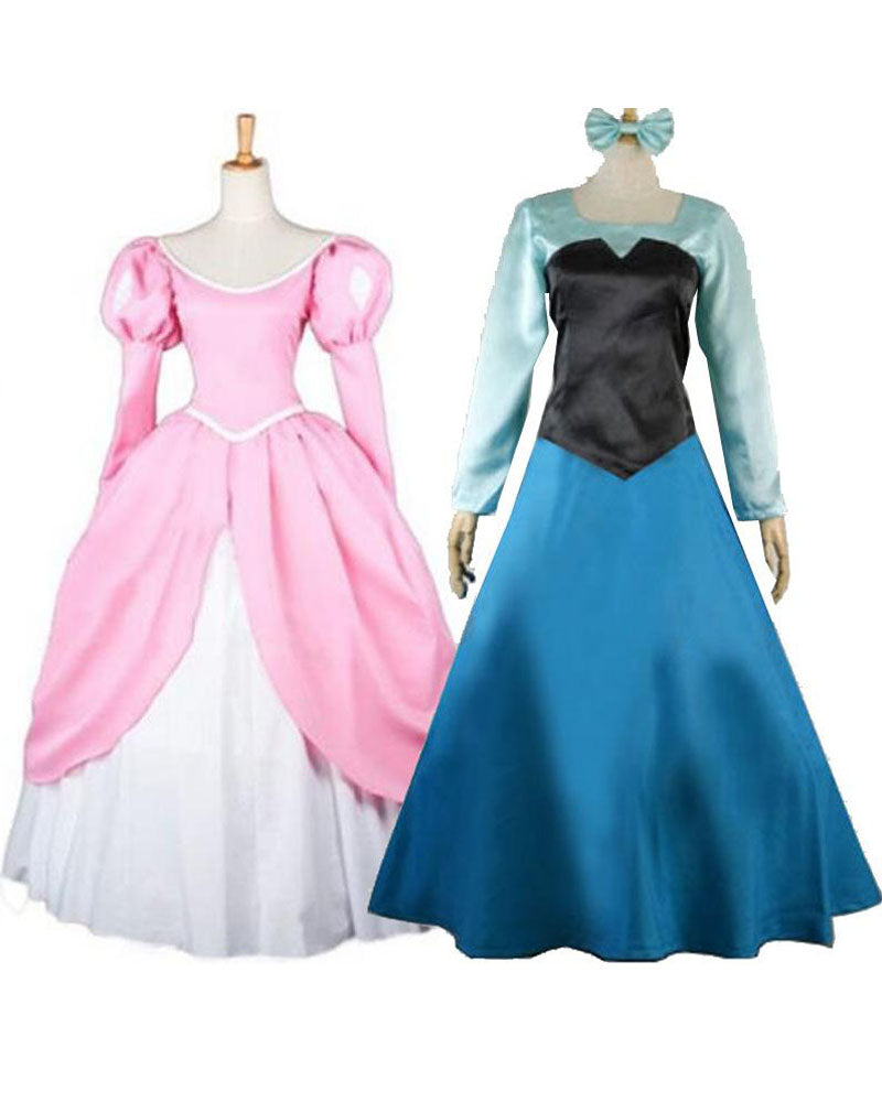 Princess Ariel Pink Dress Cosplay Costume For Adults Custom Made Auscosplay