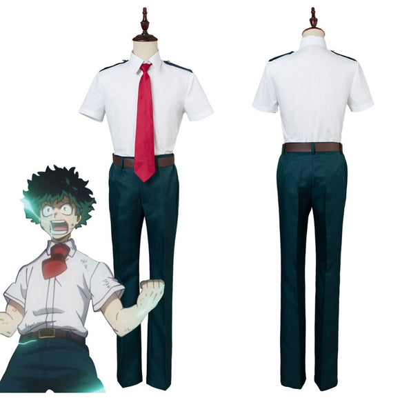 Boku no Hero Izuku Midoriya Shoto Todoroki Katsuki Bakugou Cosplay Costume Summer Men Uniform