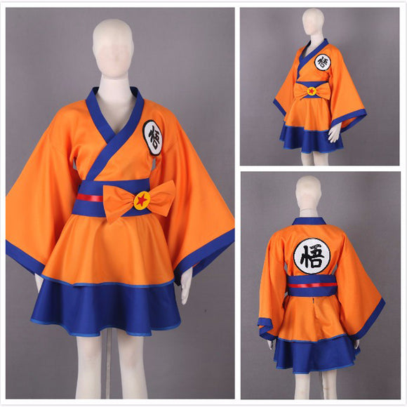 Dragonball Z Son Goku Cosplay Costume Female Dress