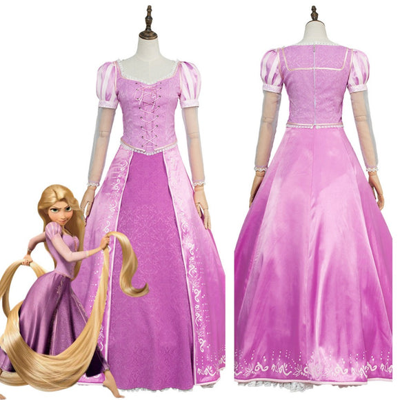 Tangled Princess Rapunzel Dress Cosplay Costume For Adults Girl Custom Made