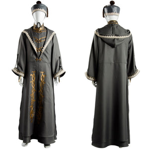 Albus Dumbledore Cosplay Costume Robe Cloak Men Adult Halloween Outfit