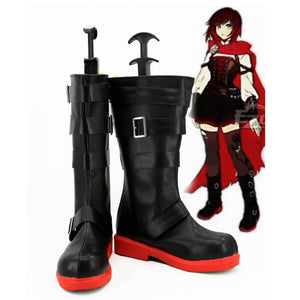 RWBY 4 Red Trailer Ruby Rose Cosplay Boots Shoes