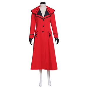Mary Poppins Costume Cosplay Red Trench Coat Uniform Casual Suit Custom Made