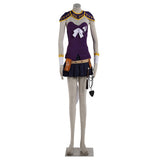 Fairy Tail Lucy Heartfilia Purple Cosplay Costume Girls Dress