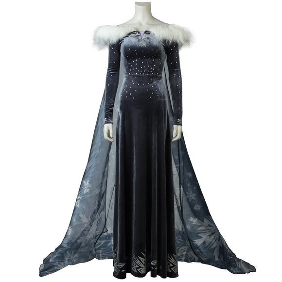 Olaf's Adventure Snow Queen Elsa Cosplay Costume Princess Party Dress