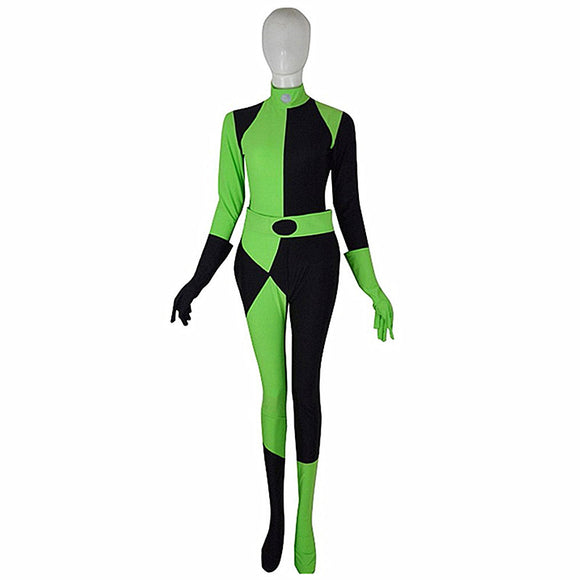 Shego Costume Kim Possible Cosplay Jumpsuits Halloween BodySuit Custom Made