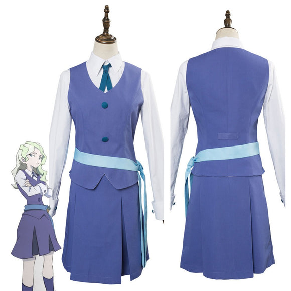 Little Witch Academia Diana Cavendish Cosplay Costume Uniform Dress Suit