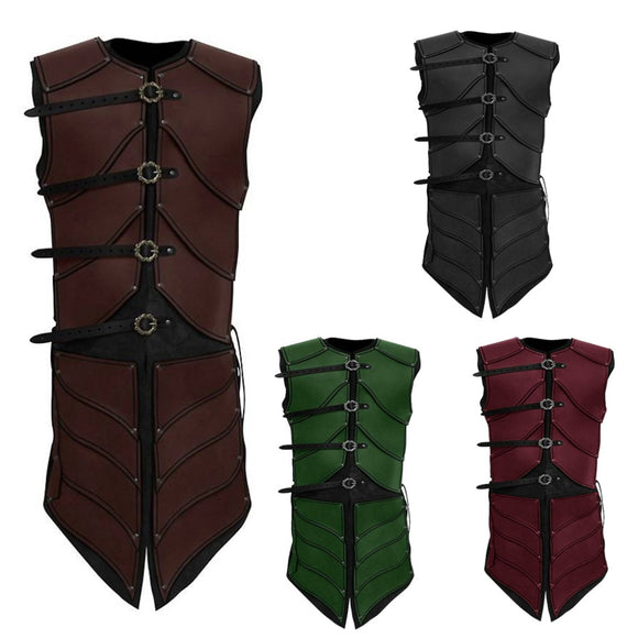 2018 Medieval Renaissance Vest Jacket Mens Sleeveless Top
