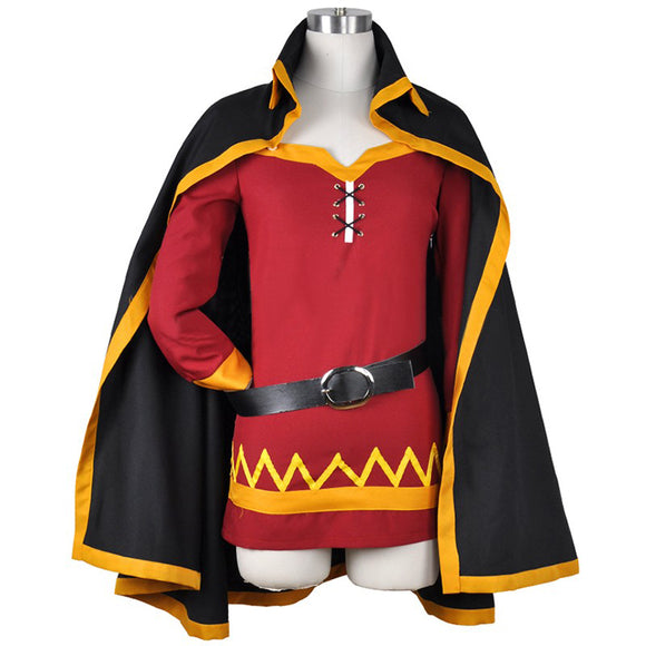 Women Megumin Cosplay Cloak Costume Aqua Megumin Cosplay Dress Megumin Uniform