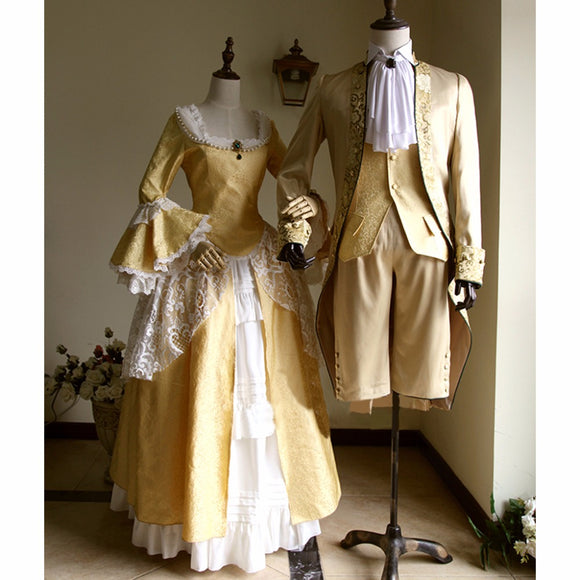 Victorian Elegant Gothic Aristocrat 18th Century Cosplay Costume Adult Wedding Dress Custom Made