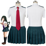 My Hero Academia Ochaco Uraraka Tsuyu Asui Cosplay Costume Girls Summer Uniform
