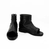 Naruto Orochimaru Cosplay Shoes Party Black Peep Toe Boots Custom Made