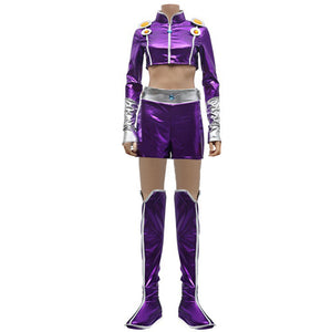 Starfire Cosplay Costume Princess Koriand'r Suit DC Comics Woman Lady Halloween Outfit