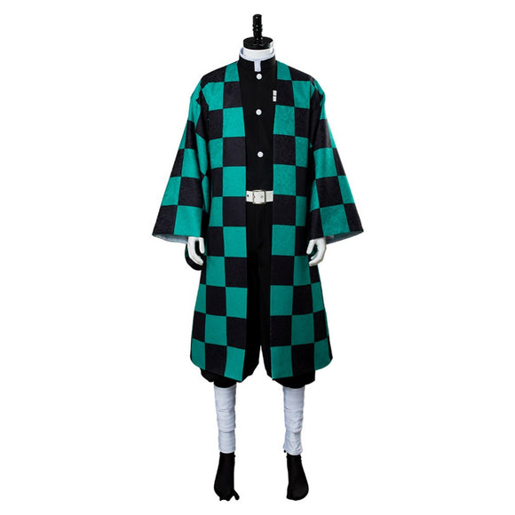 Kamado Tanjiro Cosplay Costume Demon Slayer: Kimetsu No Yaiba Outfit