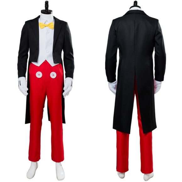 Mickey Mouse Cosplay Costume Adult Men's Tuxedo Dinner Suit Uniform