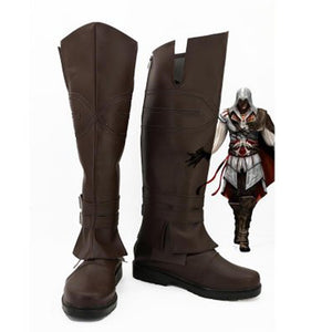 Assassins Creed Ezio Cosplay Boots Men Party Shoes Custom Made