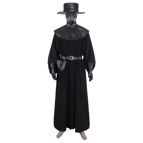 Plague Doctor Cosplay Costume Steampunk Outfit Suit Custom made