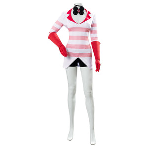Hazbin Hotel Angel Dust Cosplay Costume Uniform