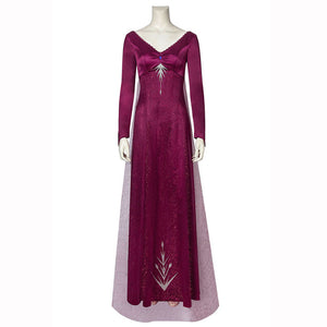 Elsa Queen Costume Outfit Fancy Party Dress