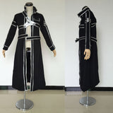 Sword Art Online Kirito Cosplay Costume Anime Kazuto Kirigay Only Black Coat