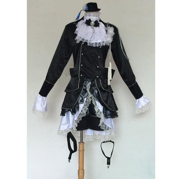Black Butler Ciel Phantomhive Cosplay Kuroshitsuji Ciel Costume Full Custom in You Size