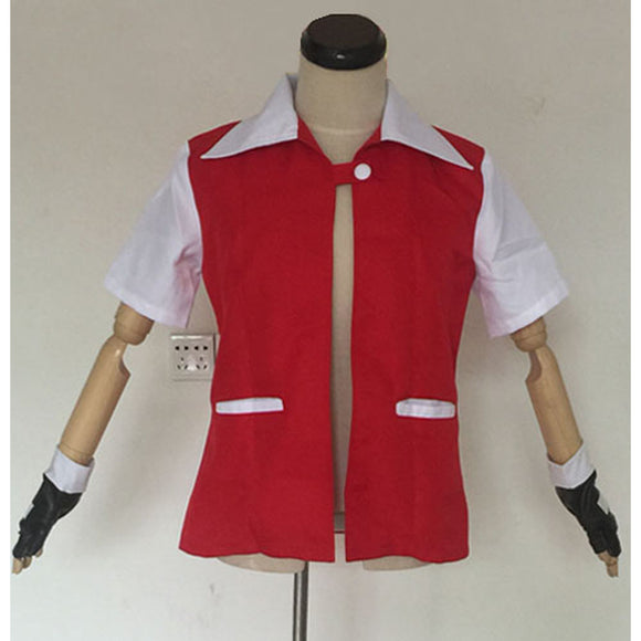 Pokemon Red Ash Ketchum Jacket/Coat White Pockets Version Costume Custom Any Size